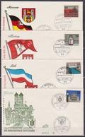 BRD FDC 1964 Nr.416 - 427 Hauptstädte Der Länder Der BRD 12 FDC ( K 27 ) Günstige Versandkosten - BRD