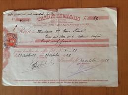 Location Coffre Au Crédit Lyonnais Belgique Avec Timbre Fiscal.1928 - Banque & Assurance