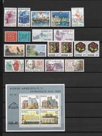 NORVEGE - ANNEE COMPLETE 1986  **/MNH - COTE YVERT = 54.5 EUR. - Ganze Jahrgänge