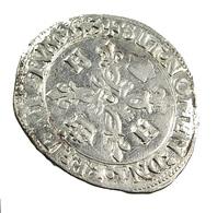 Douzain Aux Croissants - Henri II -  France -  Billon - 1553 B  Rouen  - TB+ - - 1547-1559 Henri II