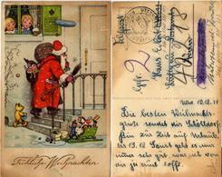(y385) AK Weihnachten Feldp. 2.WK St. Riedlingen Uttenweiler N. Fp.Nr. 40218 Stab Kriegslazarett Abt. 603 - Weihnachten