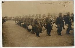 Real Photo Infirmiers Rapatriés 1915 Croix Rouge . Red Cross . Male Nurses WWI Cliché Farges Lyon - Croix-Rouge