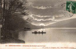 GERARDMER COUCHER DE  SOLEIL SUR LE LAC - Autres Communes