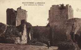 SAUVETERRE La LEMANCE  Cour Interieur Du Chateau RV Beau Timbre 1F20 - France