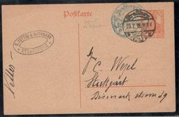 Germany1918:Oberschlesien Michel P110 From Strassburg(July1917) - Autres