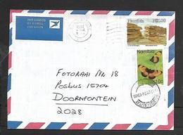Namibia, Air Mail Cover, N$1.10 > S.Africa, WALVISBAAI/BAY 1997  4 IX Roller + Hand Struck C.d.s. - Namibia (1990- ...)