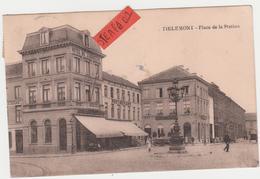 Tienen, Thienen, Tirlemont,Stationsplein Met Hôtel De L'Industrie En Hôtel De Namur, COLLECTORS!!!! - Tienen