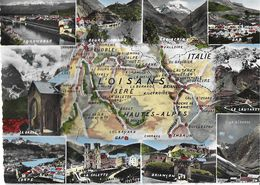 CARTE GÉOGRAPHIQUE RÉGIONALE OISANS ISÈRE 38  HAUTES-ALPES 05 1572 PLAN L'OISANS  EDIT.CAP - France