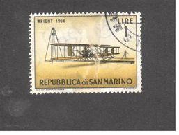 Europe - Saint-Marin - 1962 - Vintage Aircraft -  Wright Type A Biplane (1904) - Saint-Marin