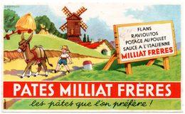 Buvard Pâtes Milliat Frères. - Buvards, Protège-cahiers Illustrés