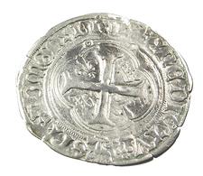 Grand Blanc à La Couronne -  Louis II -  France -  Billon - . 12 Lyon  - TB+ - - 987-1789 Monnaies Royales