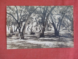 RPPC Temecull  Ca Cancel Live Oak Park  Paper Residue From Album --  Ref 3068 - To Identify