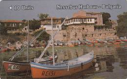 BULGARIA(GPT) - Nessebur Harbour, Betkom Telecard First Issue 10 Units, CN : 1BULB, Tirage 14724, 06/90, Used - Bulgaria