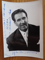 PHOTO AVEC DEDICACE DE ROBERTO TURRINI, TENORE ( PREM. FOTO EMANUELLI - ARCO ) - Autographs
