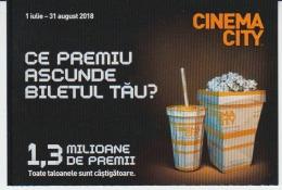 Romania - Cinema City - Ticket Voucher - Raffle Ticket - Tickets D'entrée