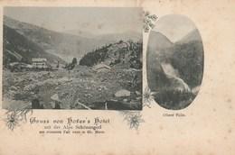 Gruss Von Hofer's Hotel Mit Des Alpe Schönangerl. Carte Nuage Dos Simple - Précurseur - Austria