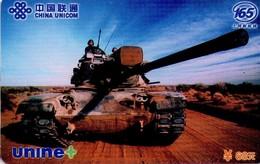 TARJETA TELEFONICA DE CHINA. TANQUE - WAR TANK, UNINE+ (078) - Armada