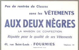 Buvard AUX DEUX NEGRES 41, Rue Saint Louis FOURMIES - Textile & Clothing