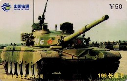TARJETA TELEFONICA DE CHINA. TANQUE - WAR TANK (079) - Armada