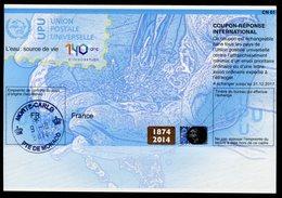 MONACO  140 Ans De L'UPU Coupon Réponse International / International Reply Coupon - Entiers Postaux