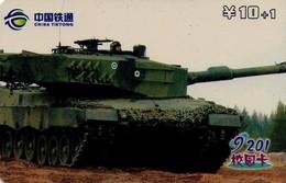 TARJETA TELEFONICA DE CHINA. TANQUE - WAR TANK (080) - Armada