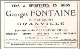 Buvard Georges Fontaine 14, Rue Couraye GRANVILLE Vins & Spiritueux En Gros - Liqueur & Bière