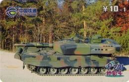 TARJETA TELEFONICA DE CHINA. TANQUE - WAR TANK (084) - Armada