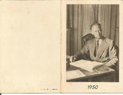 Belgique Calendrier Petit Format 1950 Roi Léopold III (2 Scans) - Calendars