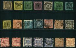 1851/1868, BADEN: Kleines Lot Von 29 Marken Ab Nummer 1. Micehl Ca. 1.100 Bitte Genau Besichtigen. - Bade