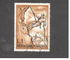 Europe - Saint-Marin - 1962 - Mountaineering - Mountaineer Roping - Saint-Marin