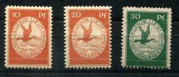 4163 - D.R. - Flugpost I-III Mit Falz - Mint But Hinged Set - Airmail