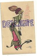 Illustrateur Naillod. Jeune Femme à La Mode Et Son Ombre. Flashs - Naillod