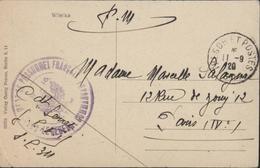 Wileika Vileyka Trésor Poste 311 11 9 20 Cachet Aigle Personnel Français Mission Militaire Française Pologne Bielorussie - Postmark Collection (Covers)