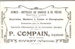 Buvard P. COMPAIN Arquebustier Rue De Commerce CIVRAY (Vienne) - Sports