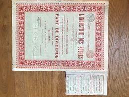 SOCIETA' ANONYME ITALO-BELGE- L'INDUSTRIA DES SUCRES- 1899 - Altre Collezioni