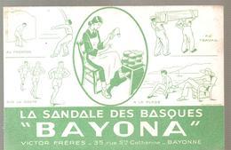 Buvard BAYONA La Sandale Des Basques BAYONA Victor Frères 35, Rue Ste Catherine BAYONNE - Shoes