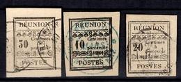 Réunion Timbres Taxe YT N° 2, N° 4 Et N° 5 Oblitérés. B/TB. A Saisir! - Portomarken