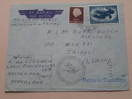 ENVELOPPE / OMSLAG : KLM Amsterdam - Tripoli LYBIE 1958 Openingsvlucht KLM Lijndienst ( Zie Foto's ) ! - Entiers Postaux