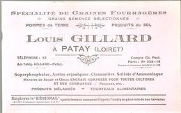 Buvard Louis Gillard à Patay (Loiret) Spécielité De Graines Fouragères - Agriculture