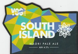 VALE OF GLAMORGAN BREWERY (BARRY, WALES) - SOUTH ISLAND MAORI PALE ALE - PUMP CLIP FRONT - Signs
