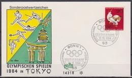 BRD FDC 1964 Nr.451 Olympische Sommerspiele Tokio  ( D 3312 ) Günstige Versandkosten - BRD