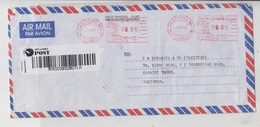 SriLanka Airmail Cover To Pakistan, Meter Stamp  Red-2124 - Switzerland
