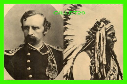 INDIANS - OPPOSING COMMANDERS - LT. COL GEIRGE A. CUSTER - LITTLE BIG HORN, UNCPAPA SIOUX - ELIZABETH B. CUSTER, 1980 = - Indiens De L'Amerique Du Nord