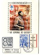 Thème Général De Gaulle - Cachet à Date Roanne Du 9 Novembre 1971 + Griffe - R 5394 - De Gaulle (Generale)