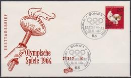 BRD FDC 1964 Nr.451 Olympische Sommerspiele Tokio  ( D 5926 ) Günstige Versandkosten - BRD