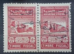 BB2 - Syria 1942 Fiscal Revenue Stamp 150p Carmine X2 - Momument Design Issue - Syria