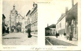 N°64864 -cpa Arcis Sur Aube -rue De Troyes Et E Paris- - Arcis Sur Aube