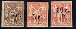 Réunion YT N° 7/9 Neufs *. B/TB. A Saisir! - Réunion (1852-1975)
