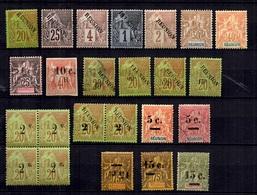 Réunion Belle Petite Collection D'anciens 1885/1901. Bonnes Valeurs. B/TB. A Saisir! - Réunion (1852-1975)