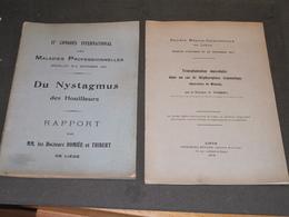 LIEGE - HOSPICES CIVILS - 2publications 1910 Et 1913 - Docteurs ROMIEE Et THIBERT (voir Scan Pour Titres) - Wissenschaft